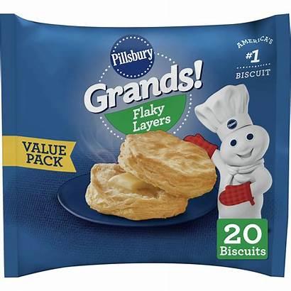 Biscuits Flaky Pillsbury Grands Layers Walmart Frozen