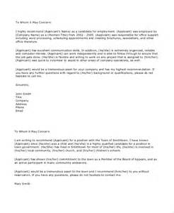 Employee Recommendation Reference Letter