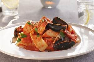 Pappardelle alla Pescatore with Marinara Cream Sauce ...