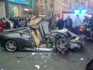 Ferrari bad accident in russia. More Photos, click on ...