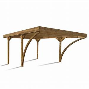 Carport bois harold 2 voitures 2954 m2 leroy merlin for Nice abri de jardin bois pas cher leroy merlin 2 carport 3 voitures bois