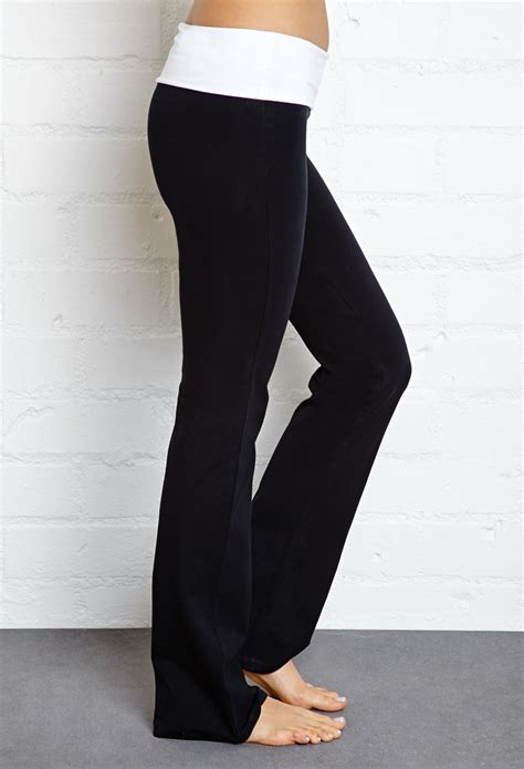 lyst   fold  yoga pants  black