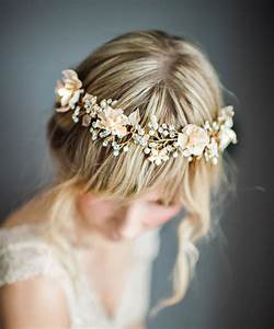 Bohemian Wedding Hair Wreath Emmaline Bride Handmade