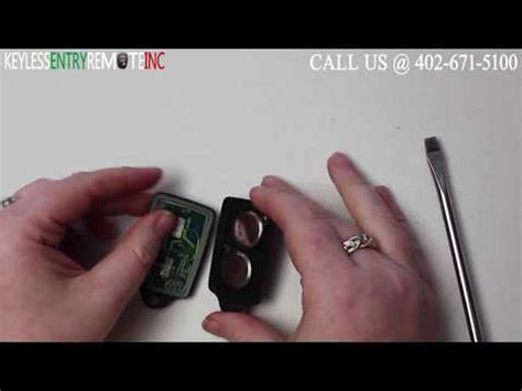 Remove the back of the key, and take out the old battery. Key Fob Programming Instructions
