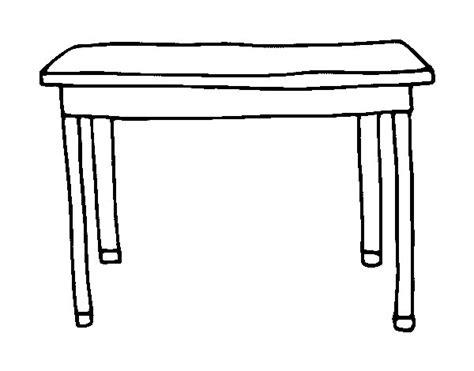 Coloriage De Table Rectangulaire Pour Colorier Coloritoucom
