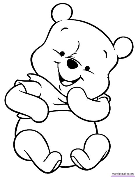 baby pooh coloring pages disneyclipscom