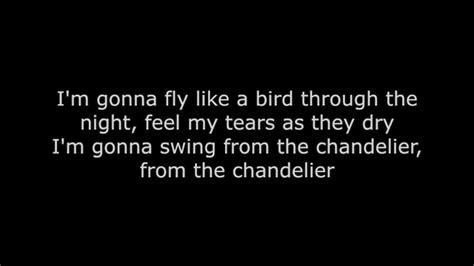 chandeliers lyrics chandelier thompson lyrics