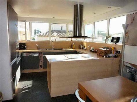 photo salon cuisine ouverte decoration interieur salon cuisine 2017 avec aménagement