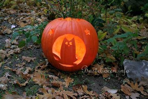 kuerbisse basteln zu halloween kuerbis mit eulen motiv