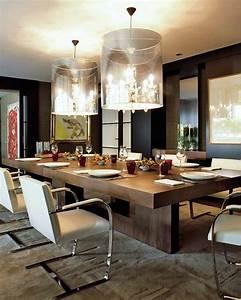 voici la salle a manger contemporaine en 62 photos With meuble salle À manger avec grande table carree salle a manger