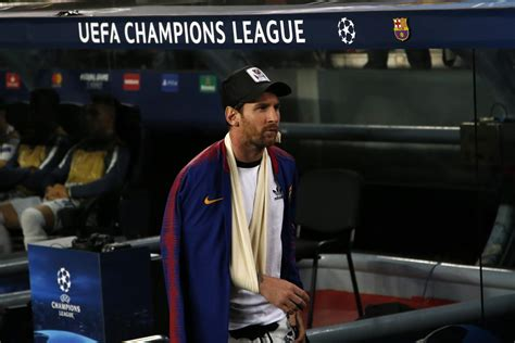 Lionel Messi Returns to Barcelona Training After Arm Injury