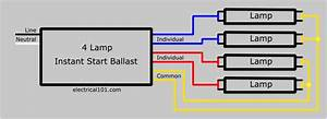 Fluorescent Light Wiring Diagram For Ballast