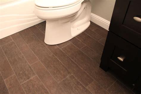 bathroom  wood tile floor home decorating ideas