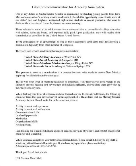 sample air force recommendation letter templates