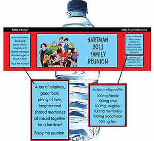 family reunion With family reunion water bottle labels