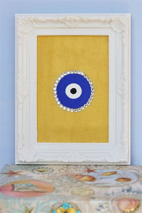 evil eye painting  canvas  jewels evil eye art