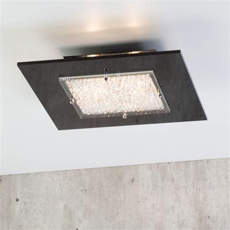 dubai square 4 light flush ceiling light black