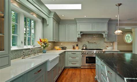 blue grey kitchen walls