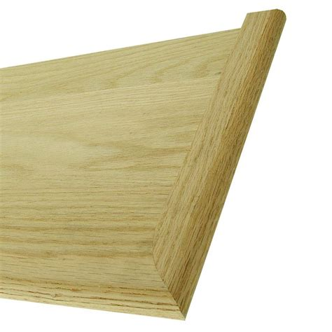 oak stair treads home depot stair parts 48 in x 11 1 2 in unfinished red oak stair tread 8503r 048 hd00l the home depot