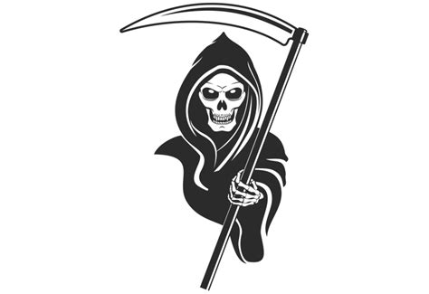 clear dining room set grim reaper wall decal
