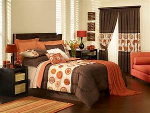 Orange bedroom walls memes for Brown and orange bedroom ideas