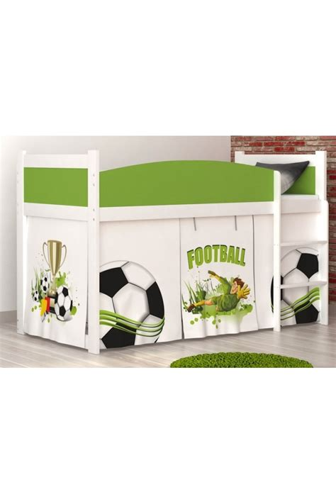 football mid sleepers loft bed mid sleeper football with mattress and curtains