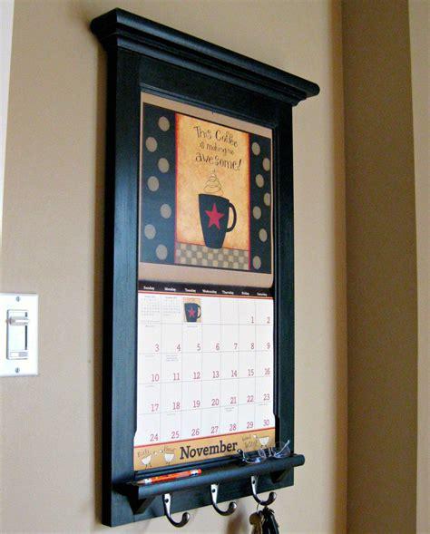 calendar frame family organizer storage shelf  keyhook