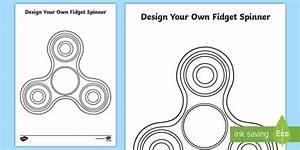 Design Your Own Fidget Spinner Worksheet    Worksheet