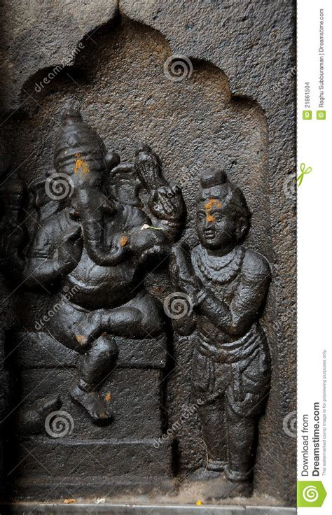 sculpture  indian god ganesh stock photo image