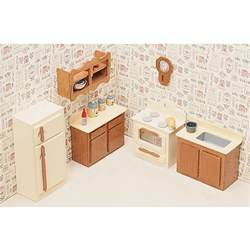 dolls house kitchen furniture unfinished wood kitchen dollhouse furniture kit free shipping on orders 45 overstock