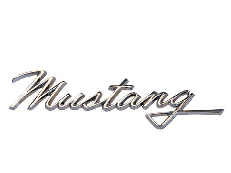 metal crate emblem fender location chrome mustang script