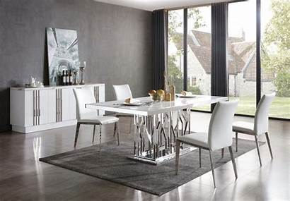 Dining Marble Table Modern Stainless Steel Modrest