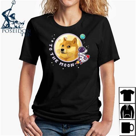 Dogecoin To The Moon Doge Hold Rocket Crypto Meme Shirt ...