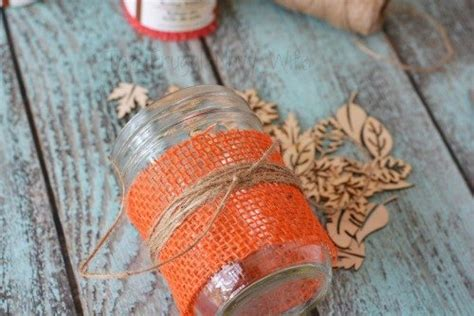 diy fall decorations burlap mason jar centerpieces