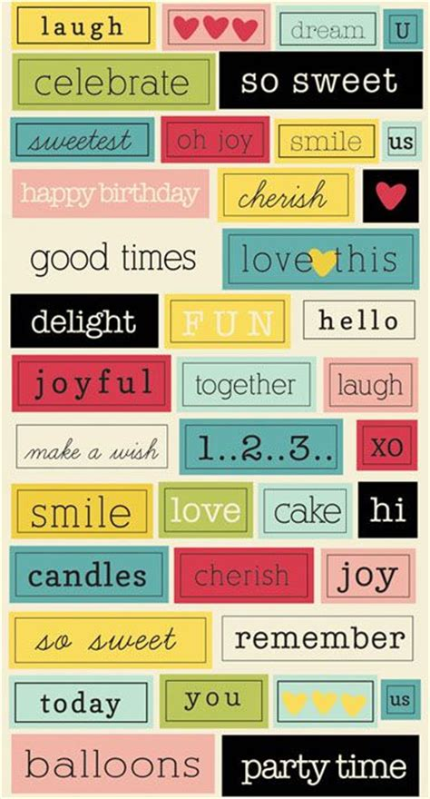stickers phrase cuisine 174 best images about scrapbook print on free