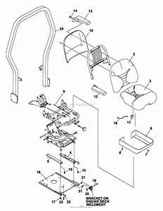 Bunton  Bobcat  Ryan 642241b Bzt 2310 31hp Gen W  61 U0026quot  Side Discharge Parts Diagram For Seat