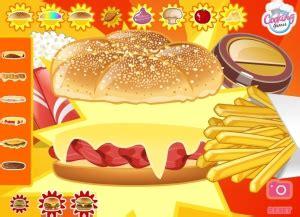 jeu de cuisine hamburger hamburger jeu
