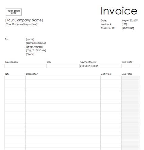 Blank Invoice Template Blank Invoice Template 2