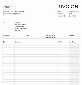blank invoice template 2 With empty invoice
