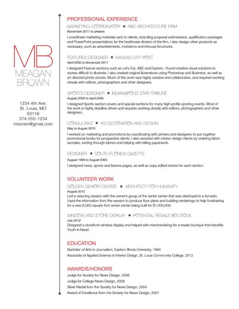 Cover Letter For Sports Marketing by Custom Resume And Cover Letter Template Big Initials