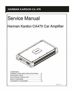 Harman Kardon Hk Ca470 Service Manual