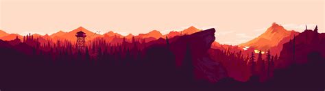 Dual Monitor Animated Wallpaper - i made some dual and single monitor firewatch wallpapers