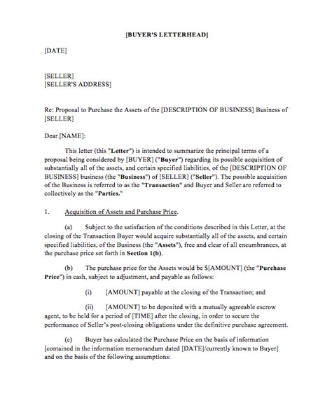 letter  intent  business oxynuxorg