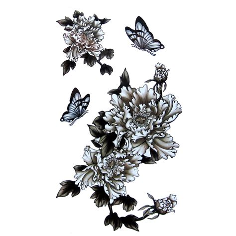 1pcs Flower Fake Tattoos Body Sticker On Sleeve For Woman
