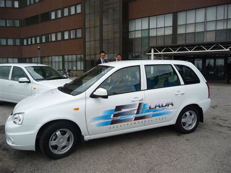 Electric Cars Lada Kalina Have Test-drives