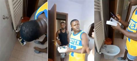 Man Caught While Video Taping His Friends Wife In Bathroom