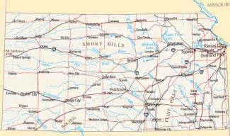 Kansas State Map with Cities
