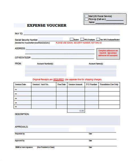 expense voucher templates     sample
