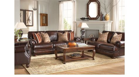 249999 Kentfield Brown 2 Pc Leather Living Room