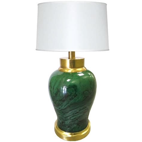 Frederick Cooper Ceramic Table Lamps by Ceramic Malachite And Brass Lamp By Frederick Cooper For